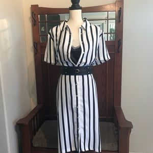 Eloquii Striped Shirt Dress